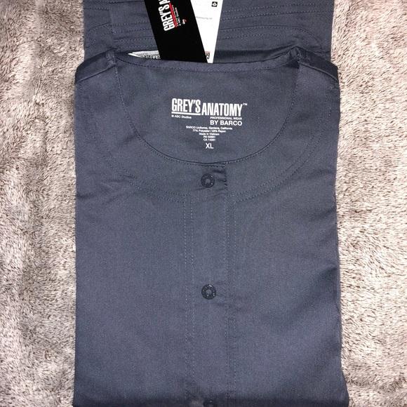 203261777c7ba Greys Anatomy Scrub Jacket sz XL STEEL GRAY NWT